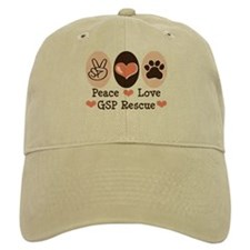 Peace Love GSP Rescue Baseball Cap