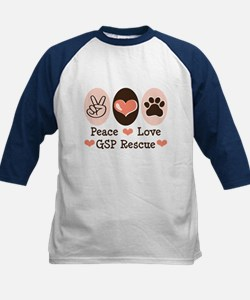 Peace Love GSP Rescue Tee