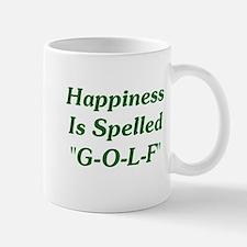 "Happiness Is ""G-O-L-F"" Mug"