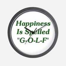 "Happiness Is ""G-O-L-F"" Wall Clock"