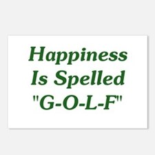 "Happiness Is ""G-O-L-F"" Postcards (Package of 8)"