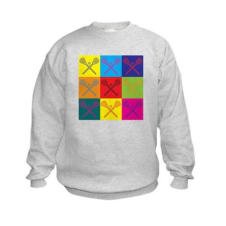 Lacrosse Pop Art Kids Sweatshirt