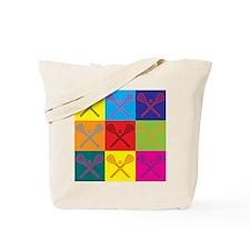 Lacrosse Pop Art Tote Bag
