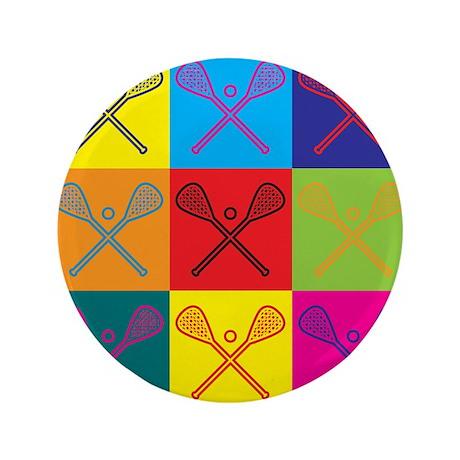 """Lacrosse Pop Art 3.5"""" Button (100 pack)"""