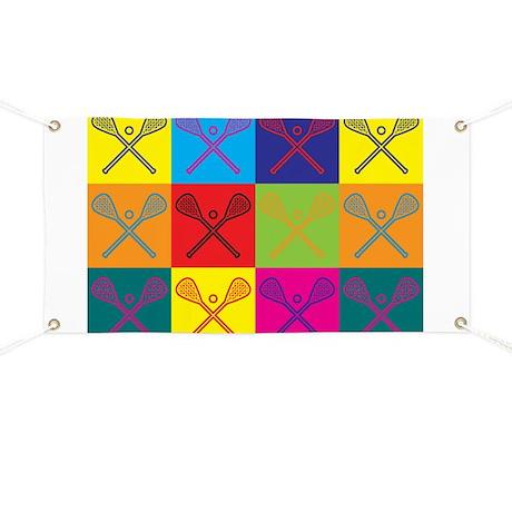 Lacrosse Pop Art Banner