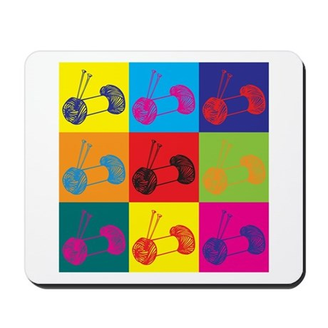 Knitting Pop Art Mousepad