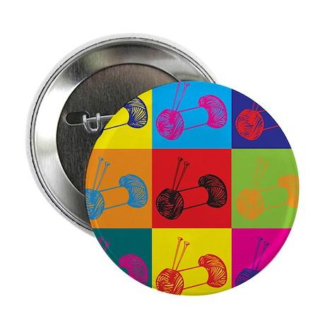 """Knitting Pop Art 2.25"""" Button (100 pack)"""