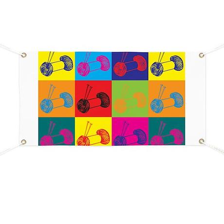 Knitting Pop Art Banner