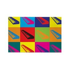 Keyboards Pop Art Rectangle Magnet