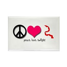 Peace, Love, Twilight Rectangle Magnet