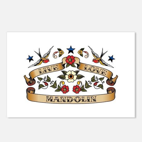 Live Love Mandolin Postcards (Package of 8)