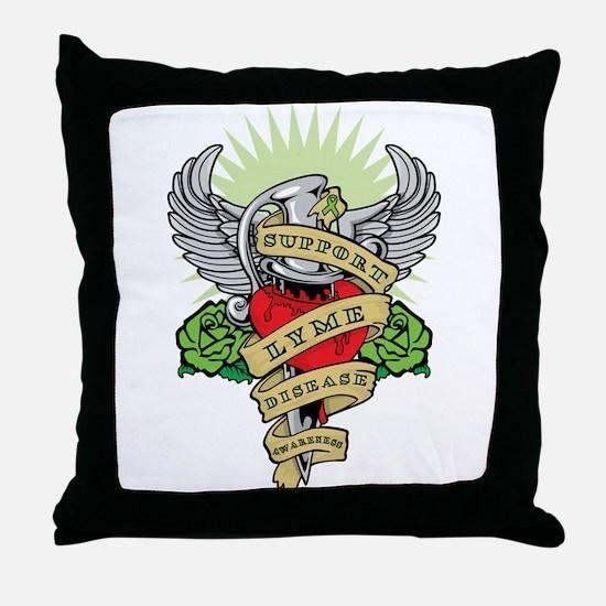 Lyme Disease Dagger Throw Pillow