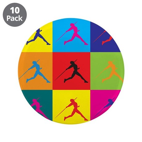 """Javelin Pop Art 3.5"""" Button (10 pack)"""