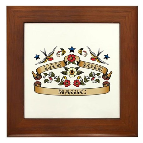 Live Love Magic Framed Tile