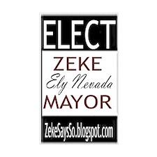 Zeke For Mayor Rectangle Decal