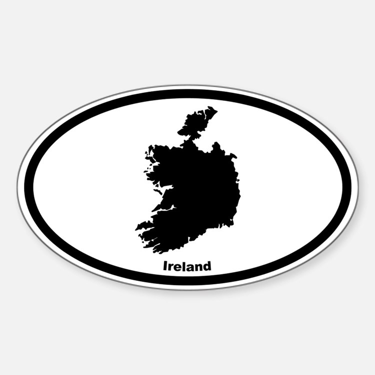 Ireland Outline Oval Decal
