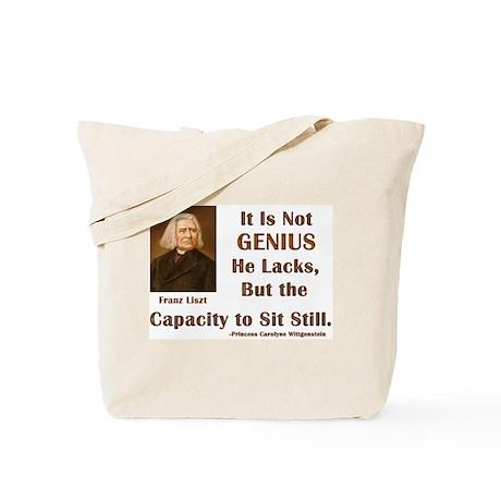 Liszt and Sitting Still Tote Bag