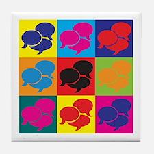 Interpreting Pop Art Tile Coaster