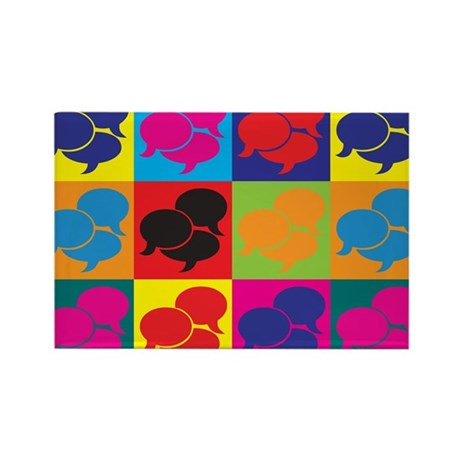 Interpreting Pop Art Rectangle Magnet (100 pack)