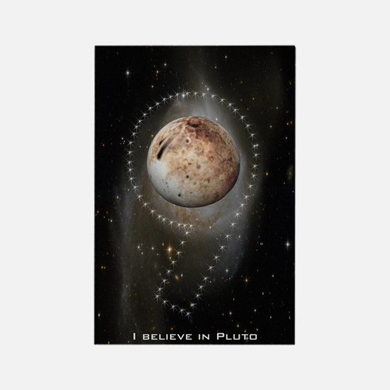 I believe in Pluto Rectangle Magnet