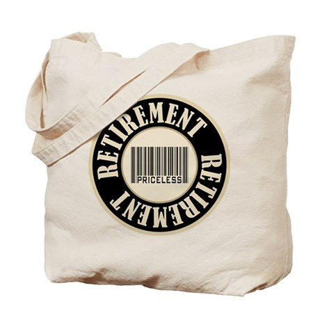 Retirement Priceless Bar Code Tote Bag