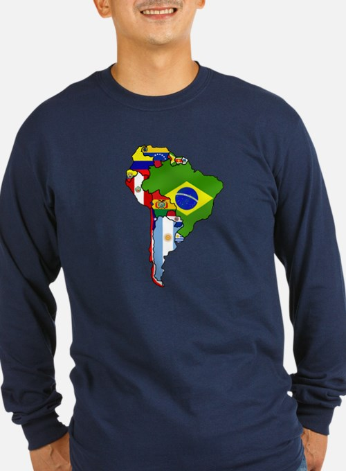 South America Flag Map T