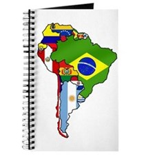 South America Flag Map Journal