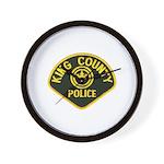 King County Police Wall Clock