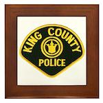 King County Police Framed Tile