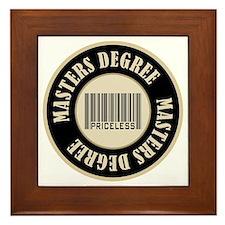 Masters Degree Priceless Bar Code Framed Tile
