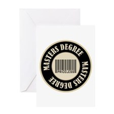 Masters Degree Priceless Bar Code Greeting Card