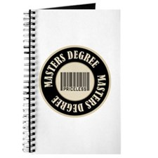 Masters Degree Priceless Bar Code Journal