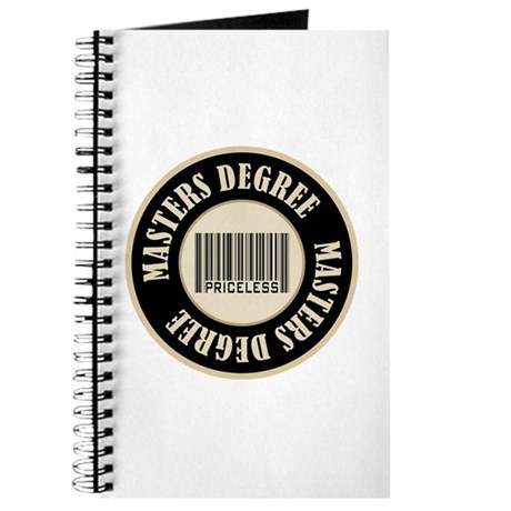 Masters Degree Priceless Bar Code Journal
