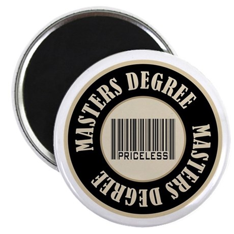 Masters Degree Priceless Bar Code Magnet