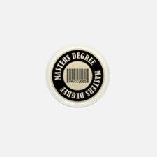 Masters Degree Priceless Bar Code Mini Button