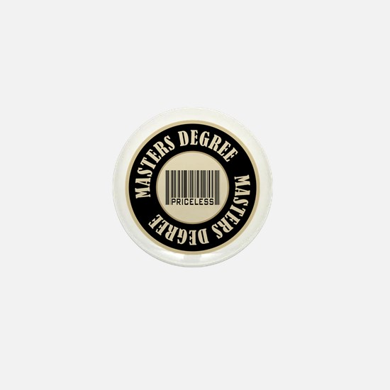 Masters Degree Priceless Bar Code Mini Button