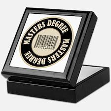 Masters Degree Priceless Bar Code Keepsake Box