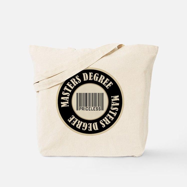 Masters Degree Priceless Bar Code Tote Bag