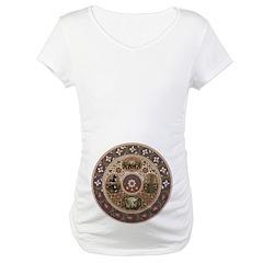 Wheel of Life Maternity T-Shirt