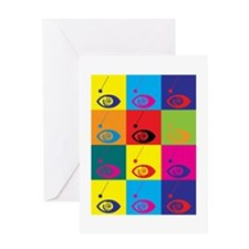 Hypnotism Pop Art Greeting Card