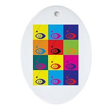 Hypnotism Pop Art Oval Ornament