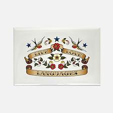 Live Love Languages Rectangle Magnet