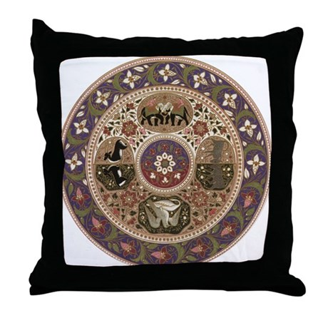 Wheel of Life Throw Pillow
