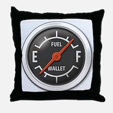 Gas Gauge Throw Pillow
