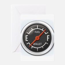 Gas Gauge Greeting Card
