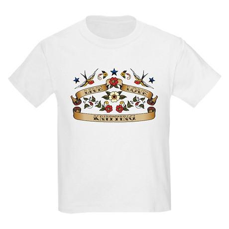 Live Love Knitting Kids Light T-Shirt