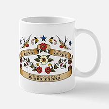Live Love Knitting Mug