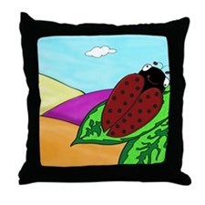 Lucy Ladybug Throw Pillow