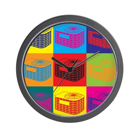 HVAC Pop Art Wall Clock