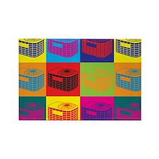 HVAC Pop Art Rectangle Magnet